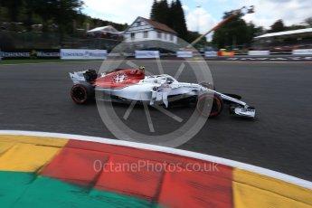 World © Octane Photographic Ltd. Formula 1 – Belgian GP - Qualifying. Alfa Romeo Sauber F1 Team C37 – Charles Leclerc. Spa-Francorchamps, Belgium. Saturday 25th August 2018.
