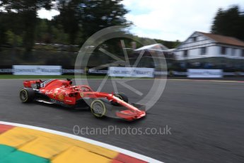 World © Octane Photographic Ltd. Formula 1 – Belgian GP - Qualifying. Scuderia Ferrari SF71-H – Sebastian Vettel. Spa-Francorchamps, Belgium. Saturday 25th August 2018.