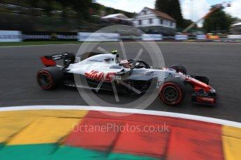 World © Octane Photographic Ltd. Formula 1 – Belgian GP - Qualifying. Haas F1 Team VF-18 – Kevin Magnussen. Spa-Francorchamps, Belgium. Saturday 25th August 2018.