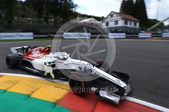 World © Octane Photographic Ltd. Formula 1 – Belgian GP - Qualifying. Alfa Romeo Sauber F1 Team C37 – Charles Leclerc. Spa-Francorchamps, Belgium. Saturday 25th August 2018.