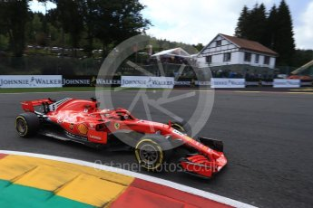 World © Octane Photographic Ltd. Formula 1 – Belgian GP - Qualifying. Scuderia Ferrari SF71-H – Sebastian Vettel. Spa-Francorchamps, Belgium. Saturday 25th August 2018.