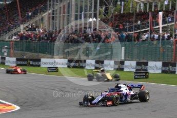 World © Octane Photographic Ltd. Formula 1 – Belgian GP - Race. Scuderia Toro Rosso STR13 – Pierre Gasly. Spa-Francorchamps, Belgium. Sunday 26th August 2018.