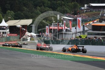 World © Octane Photographic Ltd. Formula 1 – Belgian GP - Race. McLaren MCL33 – Stoffel Vandoorne. Spa-Francorchamps, Belgium. Sunday 26th August 2018.