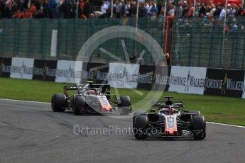 World © Octane Photographic Ltd. Formula 1 – Belgian GP - Race. Haas F1 Team VF-18 – Romain Grosjean. Spa-Francorchamps, Belgium. Sunday 26th August 2018.