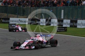 World © Octane Photographic Ltd. Formula 1 – Belgian GP - Race. Racing Point Force India VJM11 - Sergio Perez. Spa-Francorchamps, Belgium. Sunday 26th August 2018.