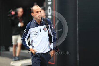 World © Octane Photographic Ltd. Formula 1 – Belgian GP - Paddock Williams Martini Racing FW41 – Robert Kubica. Spa-Francorchamps, Belgium. Friday 24th August 2018.