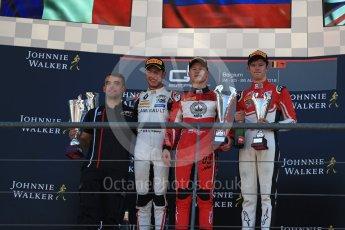 World © Octane Photographic Ltd. GP3 – Belgian GP – Race 2. ART Grand Prix - Nikita Mazepin, Callum Illot and Anthoine Hubert. Spa Francorchamps, Belgium. Sunday 26th August 2018.