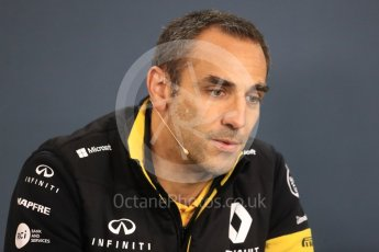 World © Octane Photographic Ltd. Formula 1 - Belgian GP – Friday FIA Team Press Conference. Cyril Abiteboul - Managing Director of Renault Sport Racing Formula 1 Team. Spa-Francorchamps, Belgium. Friday 24th August 2018.