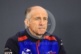 World © Octane Photographic Ltd. Formula 1 - Belgian GP - Friday FIA Team Press Conference. Franz Tost – Team Principal of Scuderia Toro Rosso. Spa-Francorchamps, Belgium. Friday 24th August 2018.