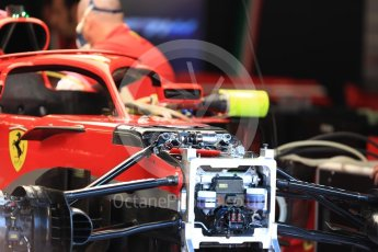 World © Octane Photographic Ltd. Formula 1 – Belgian GP - Pit Lane. Scuderia Ferrari SF71-H. Spa-Francorchamps, Belgium. Thursday 23rd August 2018.