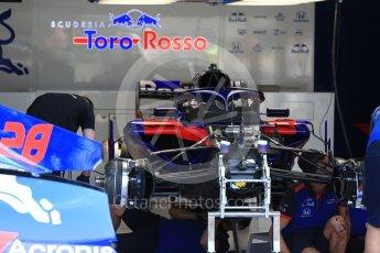 World © Octane Photographic Ltd. Formula 1 – Belgian GP - Pit Lane. Scuderia Toro Rosso STR13. Spa-Francorchamps, Belgium. Thursday 23rd August 2018.