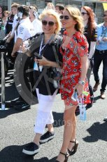World © Octane Photographic Ltd. Formula 1 - British GP - Grid. Jennifer Saunders and Geri Horner. Silverstone Circuit, Towcester, UK. Sunday 8th July 2018.