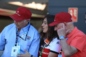 World © Octane Photographic Ltd. Formula 1 - British GP - Paddock. Ruben Juan Fangio - son of Juan Manuel Fangio and Tatiana Calderon - Development Driver Sauber F1 Team. Silverstone Circuit, Towcester, UK. Sunday 8th July 2018.