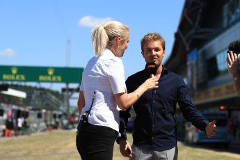 World © Octane Photographic Ltd. Formula 1 – British GP - Drivers' Parade. Nico Rosberg. Silverstone Circuit, Towcester, UK. Sunday 8th July 2018.