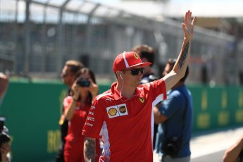 World © Octane Photographic Ltd. Formula 1 – British GP - Drivers' Parade. Scuderia Ferrari SF71-H – Kimi Raikkonen. Silverstone Circuit, Towcester, UK. Sunday 8th July 2018.