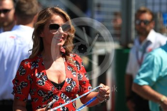 World © Octane Photographic Ltd. Formula 1 - British GP - Grid. Geri Horner. Silverstone Circuit, Towcester, UK. Sunday 8th July 2018.