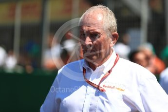 World © Octane Photographic Ltd. Formula 1 - British GP - Grid.Helmut Marko - advisor to the Red Bull GmbH Formula One Teams and head of Red Bull's driver development program. Silverstone Circuit, Towcester, UK. Sunday 8th July 2018.