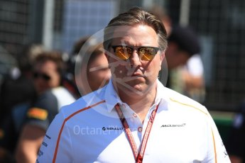 World © Octane Photographic Ltd. Formula 1 - British GP - Grid. Zak Brown - Executive Director of McLaren Technology Group.  Silverstone Circuit, Towcester, UK. Sunday 8th July 2018.