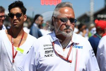 World © Octane Photographic Ltd. Formula 1 - British GP - Grid. Vijay and Siddharth Mallya - Sahara Force India. Silverstone Circuit, Towcester, UK. Sunday 8th July 2018.