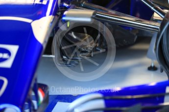 World © Octane Photographic Ltd. Formula 1 – British GP - Paddock. Scuderia Toro Rosso STR13. Silverstone Circuit, Towcester, UK. Saturday 7th July 2018.