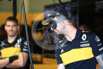 World © Octane Photographic Ltd. Formula 1 – British GP - Paddock. Renault Sport F1 Team RS18 - Incredibles II. Silverstone Circuit, Towcester, UK. Saturday 7th July 2018.