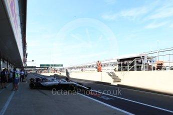 World © Octane Photographic Ltd. Formula 1 – British GP - Paddock. Williams Martini Racing FW41 – Lance Stroll. Silverstone Circuit, Towcester, UK. Saturday 7th July 2018.