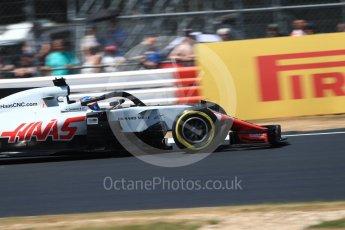 World © Octane Photographic Ltd. Formula 1 – British GP - Qualifying. Haas F1 Team VF-18 – Romain Grosjean. Silverstone Circuit, Towcester, UK. Saturday 7th July 2018.