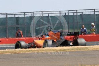 World © Octane Photographic Ltd. Formula 1 – British GP - Qualifying. McLaren MCL33 – Fernando Alonso. Silverstone Circuit, Towcester, UK. Saturday 7th July 2018.