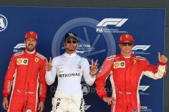 World © Octane Photographic Ltd. Formula 1 – British GP - Qualifying. Mercedes AMG Petronas Motorsport AMG F1 W09 EQ Power+ - Lewis Hamilton and Scuderia Ferrari SF71-H – Sebastian Vettel and Kimi Raikkonen. Silverstone Circuit, Towcester, UK. Saturday 7th July 2018.