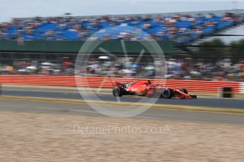 World © Octane Photographic Ltd. Formula 1 – British GP - Qualifying. Scuderia Ferrari SF71-H – Kimi Raikkonen. Silverstone Circuit, Towcester, UK. Saturday 7th July 2018.