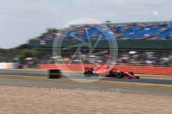 World © Octane Photographic Ltd. Formula 1 – British GP - Qualifying. Scuderia Ferrari SF71-H – Sebastian Vettel. Silverstone Circuit, Towcester, UK. Saturday 7th July 2018.