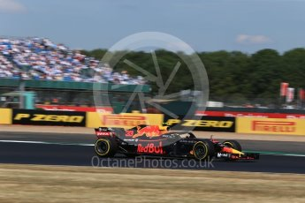 World © Octane Photographic Ltd. Formula 1 – British GP - Qualifying. Aston Martin Red Bull Racing TAG Heuer RB14 – Max Verstappen. Silverstone Circuit, Towcester, UK. Saturday 7th July 2018.