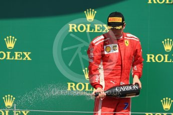 World © Octane Photographic Ltd. Formula 1 – British GP - Podium. Scuderia Ferrari SF71-H – Kimi Raikkonen. Silverstone Circuit, Towcester, UK. Sunday 8th July 2018.
