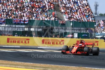 World © Octane Photographic Ltd. Formula 1 – British GP - Race. Scuderia Ferrari SF71-H – Sebastian Vettel. Silverstone Circuit, Towcester, UK. Sunday 8th July 2018.