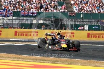 World © Octane Photographic Ltd. Formula 1 – British GP - Race. Aston Martin Red Bull Racing TAG Heuer RB14 – Max Verstappen. Silverstone Circuit, Towcester, UK. Sunday 8th July 2018.