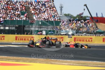 World © Octane Photographic Ltd. Formula 1 – British GP - Race. Aston Martin Red Bull Racing TAG Heuer RB14 – Max Verstappen and Daniel Ricciardo. Silverstone Circuit, Towcester, UK. Sunday 8th July 2018.