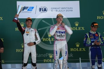 World © Octane Photographic Ltd. FIA Formula 2 (F2) – Spanish GP - Race 2. BWT Arden - Maximilian Gunther, ART Grand Prix - George Russell and Carlin - Lando Norris. Circuit de Barcelona-Catalunya, Spain. Sunday 8th July 2018.