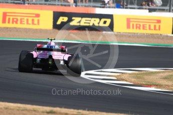 World © Octane Photographic Ltd. Formula 1 – British GP - Practice 1. Sahara Force India VJM11 - Esteban Ocon. Silverstone Circuit, Towcester, UK. Friday 6th July 2018.