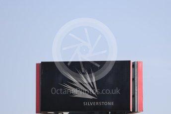 World © Octane Photographic Ltd. Formula 1 – British GP - Practice 1. Silverstone Circuit sign, Towcester, UK. Friday 6th July 2018.