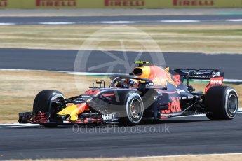 World © Octane Photographic Ltd. Formula 1 – British GP - Practice 1. Aston Martin Red Bull Racing TAG Heuer RB14 – Max Verstappen. Silverstone Circuit, Towcester, UK. Friday 6th July 2018.