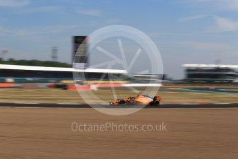 World © Octane Photographic Ltd. Formula 1 – British GP - Practice 1. McLaren MCL33 – Stoffel Vandoorne. Silverstone Circuit, Towcester, UK. Friday 6th July 2018.