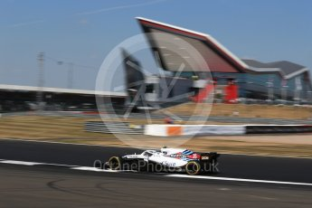 World © Octane Photographic Ltd. Formula 1 – British GP - Practice 2. Williams Martini Racing FW41 – Sergey Sirotkin. Silverstone Circuit, Towcester, UK. Friday 6th July 2018.