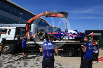 World © Octane Photographic Ltd. Formula 1 – British GP - Practice 2. Scuderia Toro Rosso STR13 – Pierre Gasly. Silverstone Circuit, Towcester, UK. Friday 6th July 2018.