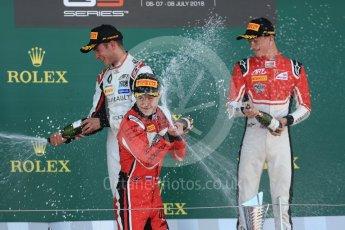 World © Octane Photographic Ltd. GP3 – British GP –   Race 1. ART Grand Prix - Anthoine Hubert, Nikita Mazipin and Callum Illot. Silverstone Circuit, Towcester, UK. Saturday 7th July 2018.