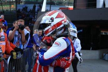World © Octane Photographic Ltd. GP3 – British GP – Race 2. Trident - Pedro Piquet and Guiliano Alesi. Silverstone Circuit, Towcester, UK. Sunday 8th July 2018.