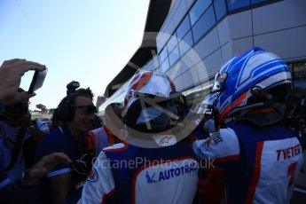 World © Octane Photographic Ltd. GP3 – British GP – Race 2. Trident - Pedro Piquet, Ryan Tveter and Guiliano Alesi. Silverstone Circuit, Towcester, UK. Sunday 8th July 2018.