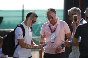 World © Octane Photographic Ltd. Formula 1 – British GP - Paddock. McLaren MCL33 – Stoffel Vandoorne. Silverstone Circuit, Towcester, UK. Sunday 8th July 2018.