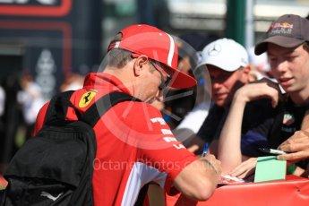 World © Octane Photographic Ltd. Formula 1 – British GP - Paddock. Scuderia Ferrari SF71-H – Kimi Raikkonen. Silverstone Circuit, Towcester, UK. Sunday 8th July 2018.
