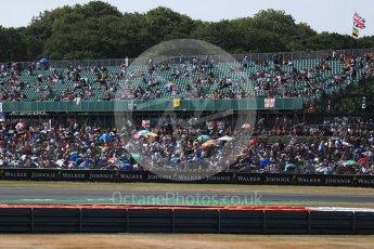 World © Octane Photographic Ltd. Formula 1 – British GP - Paddock. Fans filling up the grandstands. Silverstone Circuit, Towcester, UK. Sunday 8th July 2018.