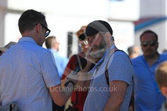 World © Octane Photographic Ltd. Formula 1 - British GP - Paddock. Liam Cunningham (Davos Seaworth in Game of Thrones) Silverstone Circuit, Towcester, UK. Sunday 8th July 2018.